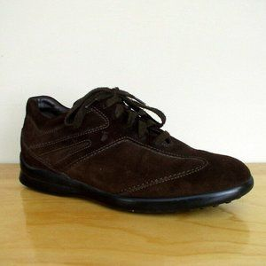 Tods Mens City Gommino Brown Suede Driving Shoe